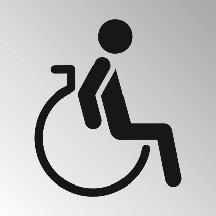 wc icoon type 5 vrouw invalide