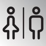 wc icoon type 6 man:vrouw